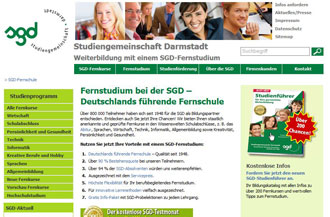 Screenshot der sgd