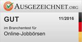 Gesamtnote gut in der Kategorie Jobboersen