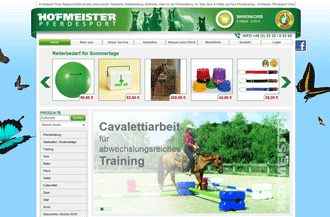 Screenshot von Hofmeister Reitsport