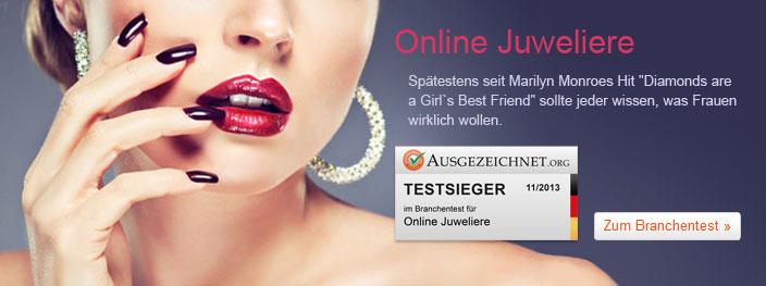Online Juweliere im großen Branchentest