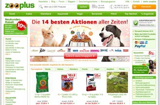 zooplus.de Screenshot